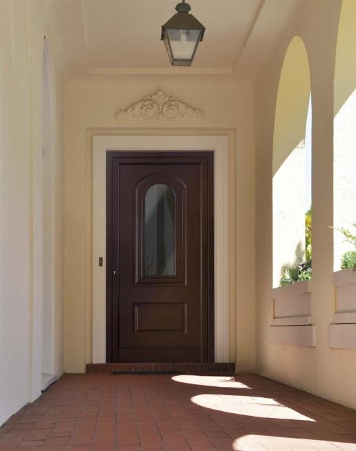 MARCHESE HP - Porta ingresso ad un'anta, pannello bugnato vetrato