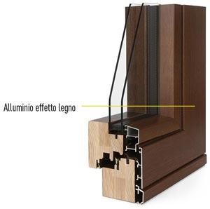 Colori e abbinamenti finestre legno alluminio i nobili - Finestre in alluminio effetto legno ...