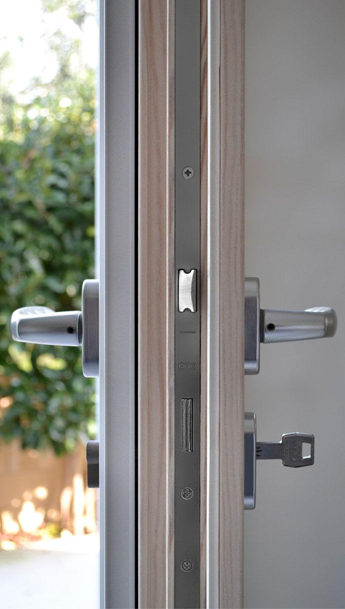 Doppia Porta Scorrevole : Gamma infissi legno alluminio sistema misto i nobili